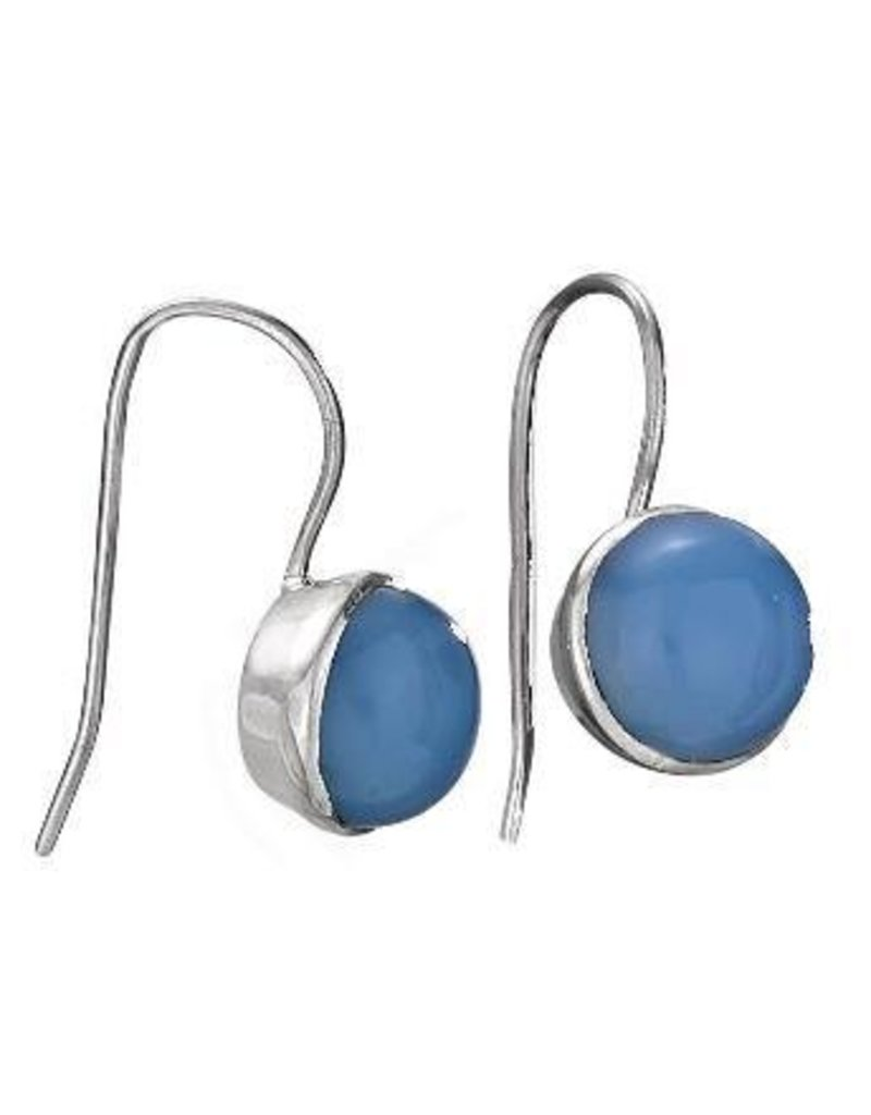 Tiger Mountain Chalcedony Round Earrings