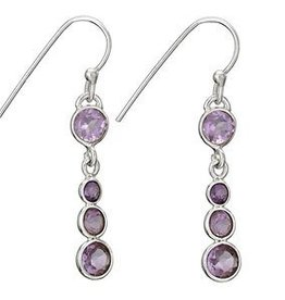 Steven + Clea Amethyst 4 Round Earrings