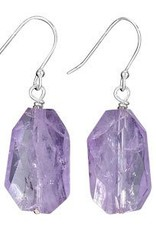 Steven + Clea Amethyst Faceted Chunk Earrings