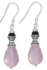 Steven + Clea Rose Quartz with Purple Crystal Earrings