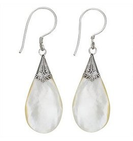 Tiger Mountain Mother of Pearl Teardrop Earrings