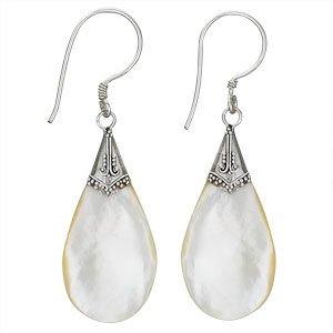 Steven + Clea Mother of Pearl Teardrop Earrings