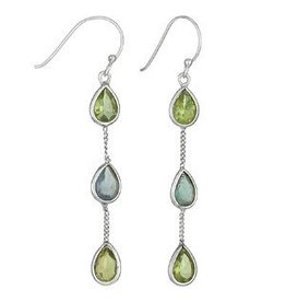 Tiger Mountain Peridot Apatite Earrings