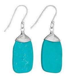 Steven + Clea Turquoise Wire Wrap Earrings
