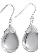 Steven + Clea Crystal Wire Wrap Earrings