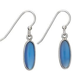 Steven + Clea Chalcedony Long Sterling Silver Earrings
