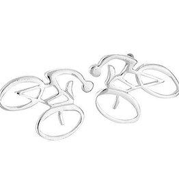 Steven + Clea Bike Stud Earrings