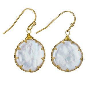 Steven Clea Blister Pearl Br Earrings