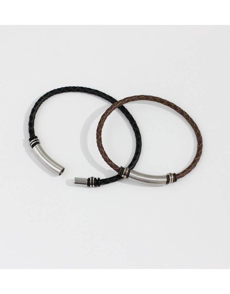 Crossroads Accessories Inc Brown Men's Leather Bracelet - 232