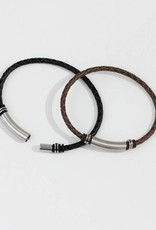 Marpa Eager Black Men's Leather Bracelet - 230