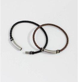 Crossroads Accessories Inc Black Men's Leather Bracelet - 230