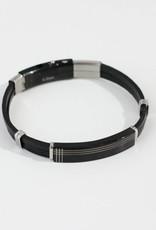 Marpa Eager Brown Silver Men's Leather Bracelet - 190