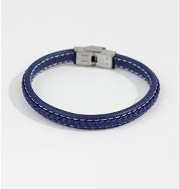 Crossroads Accessories Inc Blue Men's Leather Bracelet - 356