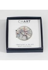 Chart Metalworks Pewter Money Clip Harvard - Peltro Cartographer