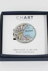 Charlotte + John Pewter Money Clip Boston - Peltro Cartographer