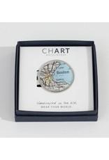 Chart Metalworks Pewter Money Clip Boston - Peltro Cartographer