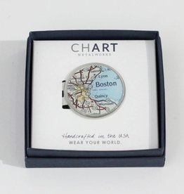Charlotte + John Pewter Money Clip Boston - Peltro Cartographer