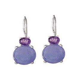 Tiger Mountain Lavender Jade/Amethyst Earring