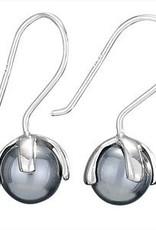 Steven + Clea Gray Pearl Silver Earrings
