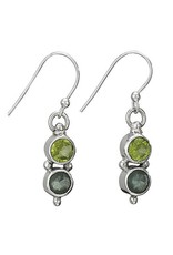 Tiger Mountain Round Peridot Apatite Earrings