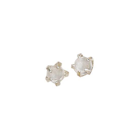 Steven + Clea Tiny Moonstone Earrings
