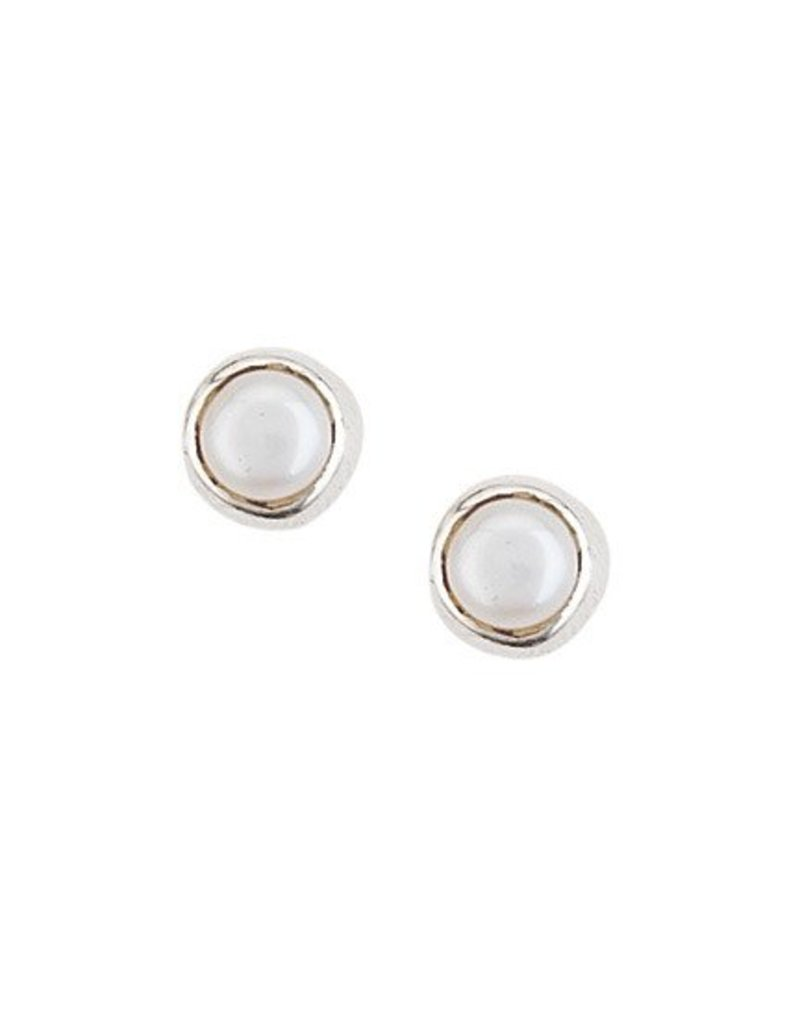 Tiger Mountain Pearl Stud Earrings
