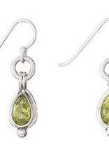 Steven + Clea Teardrop Peridot Sterling Silver Earring