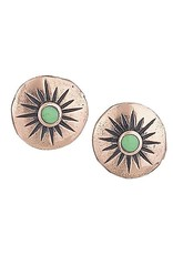 Tiger Mountain Small Gaspeite Copper Stud Earring