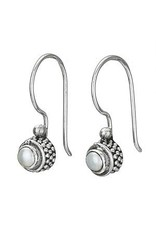 Tiger Mountain Small Round Pearl Hook Earrings