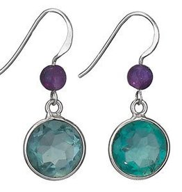 Steven + Clea Faceted Apatite Amethyst Earrings