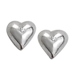 Tiger Mountain Tiny Heart Stud Silver Earrings