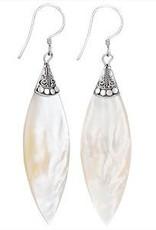 Steven + Clea Long Mother of Pearl Earrings