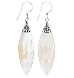 Steven + Clea Long Mother of Pearl Earrings