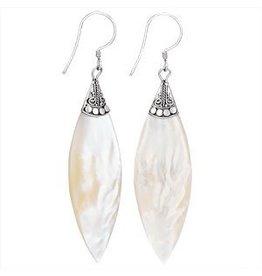 Tiger Mountain Long Mother of Pearl Earrings