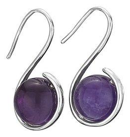 Steven + Clea Amethyst Warp Hook Earrings