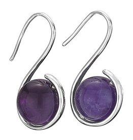 Tiger Mountain Amethyst Warp Hook Earrings