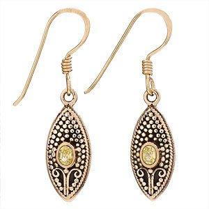Steven + Clea Citrine Bronze Earrings