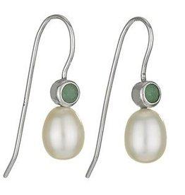 Tiger Mountain Jade Pearl Earrings