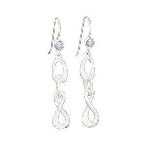 Steven + Clea Small Pearl w/ Satin Rings Earrings