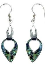 Vera + Wolf Paua Shell Silver Earring