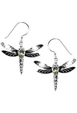 Vera Wolf Dragonfly With Peridot Earring