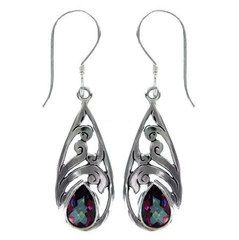 Vera + Wolf Mystic Topaz Silver Earring