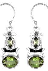 Vera + Wolf Sterling Silver Double Gem Earrings