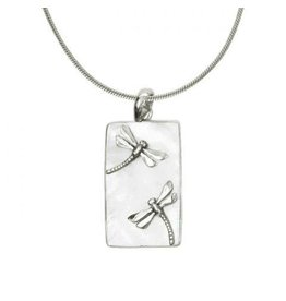 Vera Wolf Mother of Pearl w Dragonfly Bar Pendant