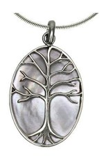 Vera + Wolf Shell Tree of Life Pendant