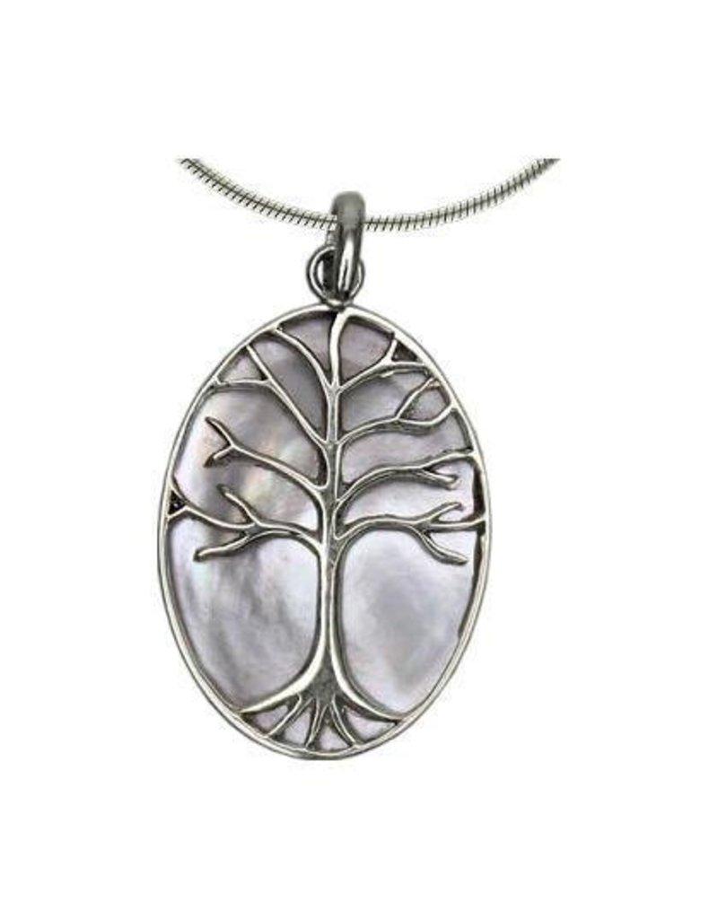 Vera Wolf Shell Tree of Life Pendant