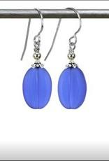 Austin Cake Melon Sea Glass Deep Blue Earring