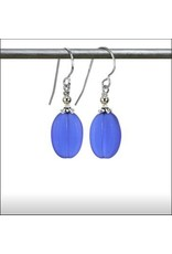 Austin Design Melon Sea Glass Deep Blue Earring
