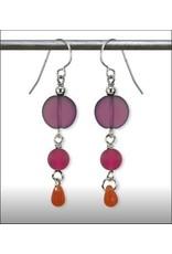 Austin Design Earrings Sun Stone Purple