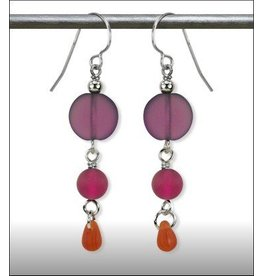 Austin Design Earrings Sun Stone Purple